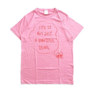 Tシャツ ライフ イズ アート × Chos Tシャツ NOT JUST A BEAUTIFUL Vintage Heather Pink メンズ|stayblue
