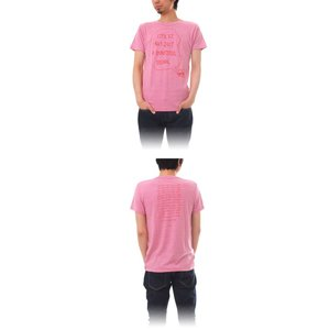 Tシャツ ライフ イズ アート × Chos Tシャツ NOT JUST A BEAUTIFUL Vintage Heather Pink メンズ|stayblue|02