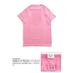 Tシャツ ライフ イズ アート × Chos Tシャツ NOT JUST A BEAUTIFUL Vintage Heather Pink メンズ|stayblue|03