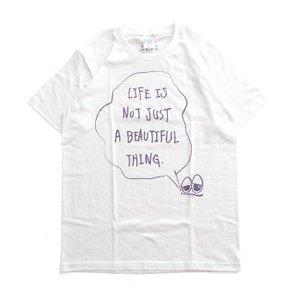 Tシャツ ライフ イズ アート × Chos Tシャツ NOT JUST A BEAUTIFUL White メンズ|stayblue