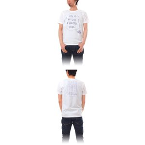 Tシャツ ライフ イズ アート × Chos Tシャツ NOT JUST A BEAUTIFUL White メンズ|stayblue|02
