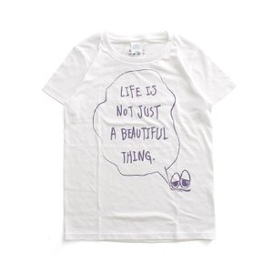 Tシャツ ライフ イズ アート × Chos Tシャツ NOT JUST A BEAUTIFUL White レディース|stayblue