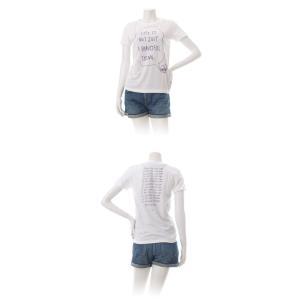 (復興デパートメント) Tシャツ ライフ イズ アート × Chos Tシャツ NOT JUST A BEAUTIFUL White レディース|stayblue|02