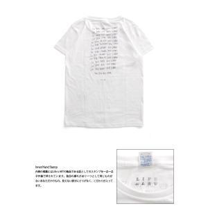 (復興デパートメント) Tシャツ ライフ イズ アート × Chos Tシャツ NOT JUST A BEAUTIFUL White レディース|stayblue|03