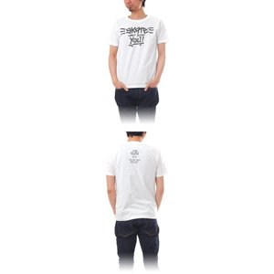 Tシャツ ライフ イズ アート × THE FUN Tシャツ SKATE White メンズ|stayblue|02