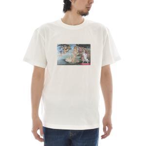 【アートTシャツ】サンドロ・ボッティチェッリ Tシャツ ヴィーナスの誕生 ビーナス ライフ イズ アート 半袖 メンズ レディース 大きいサイズ 絵画 ホワイト 白 stayblue