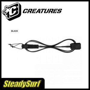 ブラック 12 アンクル アウターリーフ CREATURES クリエーチャー ロングリーシュ OUTER REEF 12 (9mm) リーシュコード サーフィン|steadysurf