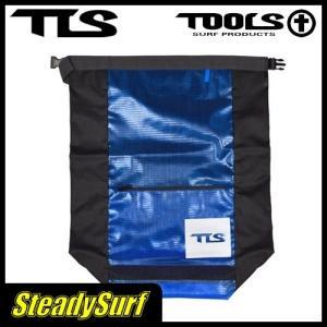 ウォータープルーフバック ウェットバッグBタテ ブラック×ブルー TOOLS/ツールス/サーフィン/マリンスポーツ|steadysurf