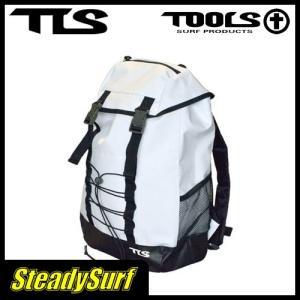 バック TOOLS ウェット トート バック ホワイト/ツールス/サーフィン/マリンスポーツ/WET BAG PAC/縦41x横25xマチ14cm、容量27L/防水性のバッグパック|steadysurf