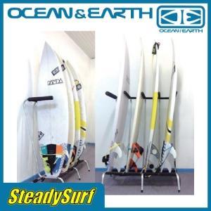 サーフキャリア・スタンド類/FREE STANDING RAX - 4 BOARDショート/ショートボード/4本/4ボード/サーフスタンド/サーフィン/OCEAN&EARTH/ラック/立て掛け|steadysurf