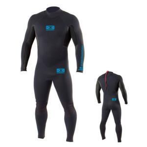 OCEAN&EARTH(オーシャンアンドアース)MENS STEARMER 3/2mm/ウェットスーツ/ブラック×ブルー/メンズ/男性用/サーフィン/マリンスポーツ|steadysurf