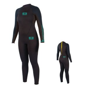 OCEAN&EARTH(オーシャンアンドアース)LADIES STEAMER 3/2mm/ウェットスーツ/ブラック×ブルー/レディース/女性用/サーフィン/マリンスポーツ|steadysurf