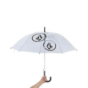あすつく/正規品/ボルコム/VOLCOM/Circle Stone Vinyl Umbrella/ビニール傘/ストーン柄/クリア/約92cm/限定/サーフィン/スノボー/アウトドア/激レア|steadysurf
