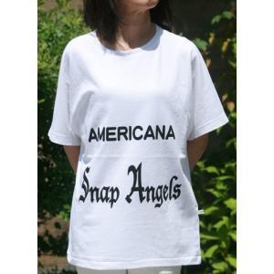 【Americana】(アメリカーナ)Angels-T(ホワイト)送料全国一律300円|steamboat