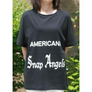 【Americana】(アメリカーナ)Angels-T(ブラック)送料全国一律300円|steamboat