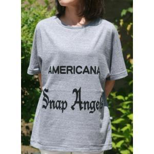 【Americana】(アメリカーナ)Angels-T(グレー)送料全国一律300円|steamboat