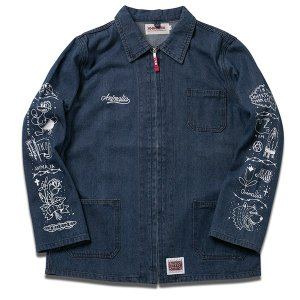ANIMALIA アニマリア PRISON TATTOO DENIM JACKET|steelo