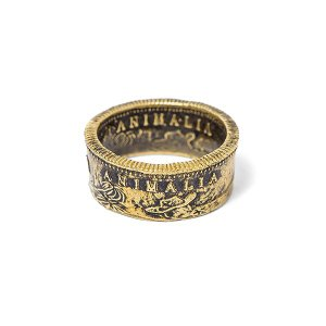 ANIMALIA アニマリア CA1849 Coin Ring-BRASS|steelo