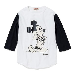 ANIMALIA アニマリア【SALE】  Disney special item  MICKEY MOUSE 3/4Sleeve|steelo