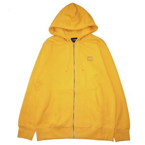 HUF ハフ WOVEN LABEL ZIP HOOD|steelo