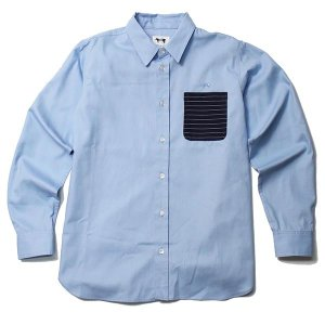 MINOS ミノス LS OX POCKET SHIRTS|steelo