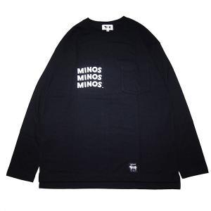 MINOS ミノス WATCHFULL EYES LS LOOSE POCKET TEE steelo