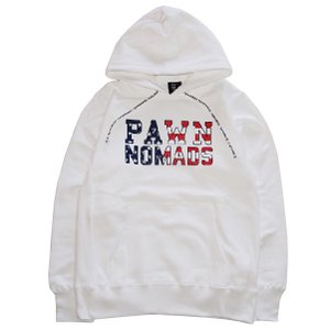 PAWN パーン 【30%OFF】FLAG LOGO HOODIE|steelo