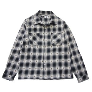 PAWN パーン DOBBY OMBRE CHECK SHIRT|steelo
