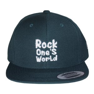 ROCK ONE'S WORLD ロックワンズワールド LOGO SNAPBACK CAP-FOREST GREEN-|steelo