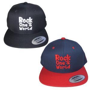 ROCK ONE'S WORLD ロックワンズワールド LOGO SNAPBACK CAP steelo