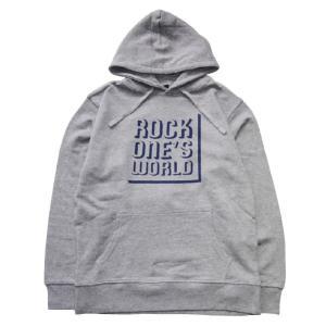 ROCK ONE'S WORLD ロックワンズワールド SHADOW LOGO HOODIE|steelo