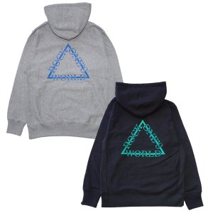 ROCK ONE'S WORLD ロックワンズワールド  TRIANGLE LOGO HOOD|steelo