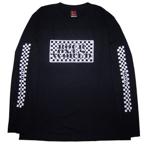 ROCK ONE'S WORLD ロックワンズワールド ROW CHECKER L/S TEE|steelo