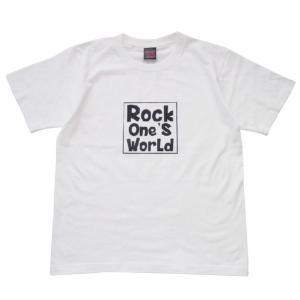 ROCK ONE'S WORLD ロックワンズワールド SQUARE LOGO TEE-WHITE/BLACK- steelo