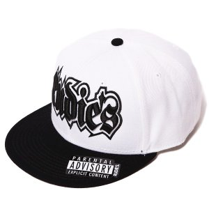 RUDIE'S ルーディーズ SPARK SNAPBACK CAP-WHITE/BLACK-|steelo