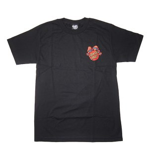SANTA CRUZ サンタクルーズ SHROOM DOT TEE-BLACK-|steelo