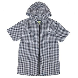 SeedleSs シードレス ZIP UP HOODY SHIRTS-CHECK-|steelo