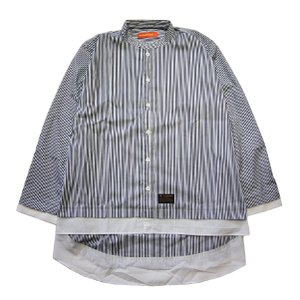 THUNDER BOX サンダーボックス BARRIER STRIPE SHIRT|steelo