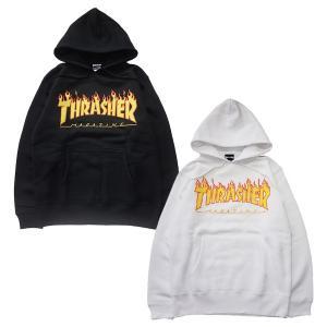 THRASHER スラッシャー FLAME 3C SWEAT PULLOVER PARKA|steelo
