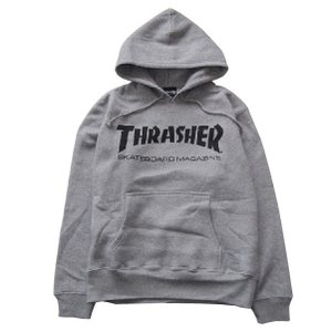 THRASHER スラッシャー MAG LOGO PARKA-HEATHER GRAY-|steelo