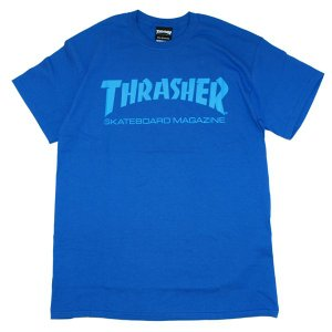 THRASHER スラッシャー MAG LOGO TEE -ROYAL/P.BLUE-|steelo