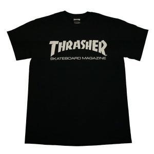 THRASHER スラッシャー MAG LOGO TEE -BLK/WHT-|steelo