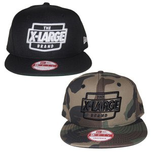 X-LARGE エクストララージ  NEWERA THE BRAND LOGO SNAPBACK CAP|steelo