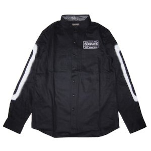 ZEPHYREN ゼファレン EMBLEM SHIRT L/S -BLACKxPLEDGE-|steelo