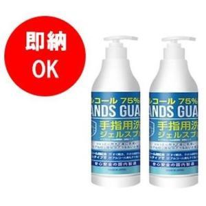 【日本製】2本セット ハンズガ−ド ジェル ポンプ480ml  アルコール75% 肌にやさしいヒアルロン酸配合 手指用洗浄|step