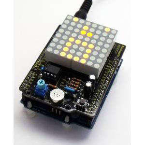 サンハヤト Arduino用ドットマトリクスLED&マイクシールドキット AS-E403 step