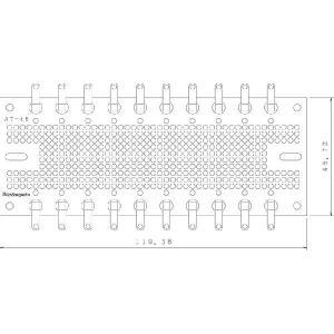 サンハヤト 基板  AT-48   ラグ端子付きユニバーサル基板 step