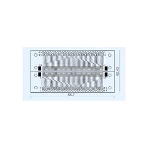 サンハヤト 基板  CK-8   コネクター変換基板 SMTコネクタ1.25mmピッチ50ピンx2 step