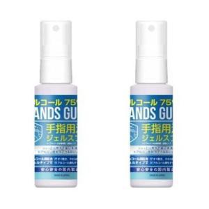 【日本製】2本セット  ハンズガ−ドジェル スプレー  60ml アルコール75%配合 肌にやさしいヒアルロン酸配合 手指用洗浄|step
