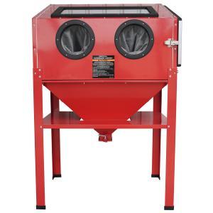 送料無料/大型サンドブラストキャビネット/日本語説明書付き/組み立て式/ 容量220L作業灯付き